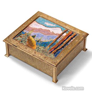 box, enamel, landscape