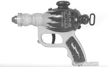 "Buck Rogers used a ""liquid helium"" water pistol like this one. This 1936 toy is in exceptional condition, so it auctioned for $622 at a MastroNet Internet auction."