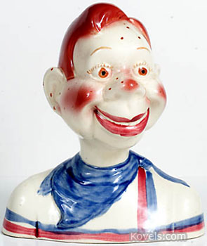 This bust of Howdy Doody, the television star, is really a ceramic bank. It was made in the 1950s, and a collector this year bought it at a recent Hake's Americana Auction in York, Pa. for $345.
