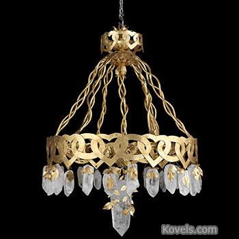 lamp, chandelier, coco, chanel, rock, crystals