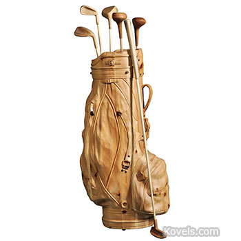 wood, carving, golf, bag, clubs, demarchi